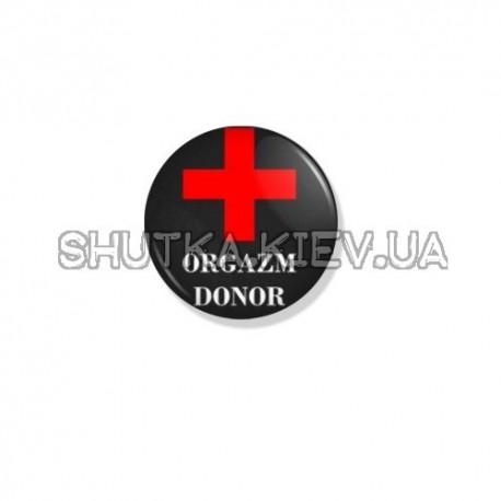 Значок orgazm donor фото 1 — Shutka