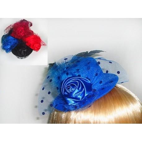 Мини шляпка с бантиком и вуалькой фото 1 — Shutka