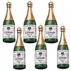 Свечи - бутылка шампанского