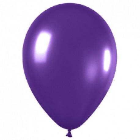 Воздушный шар 9 фиолетовый (металлик) фото 1 — Shutka
