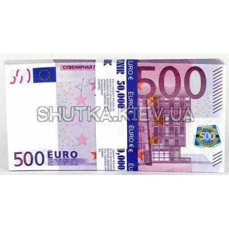 Подарочная пачка 500 ЕВРО  фото 1 — Shutka