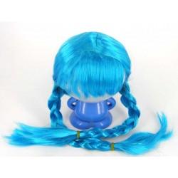 Парик с косичками голубой (снегурочки)
