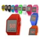 Led часы с силиконовым браслетом мал.