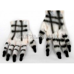 Перчатки с когтями белые