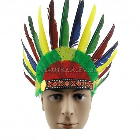 Шляпа индейца с перьями фото 1 — Shutka