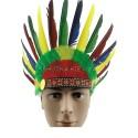 Шляпа индейца с перьями
