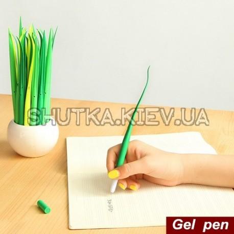 Ручка - зеленая травка фото 1 — Shutka