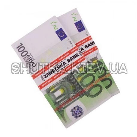 Пачка денег подарочная 100 евро фото 1 — Shutka