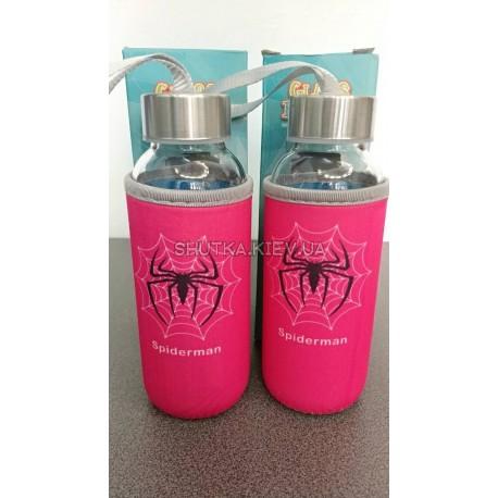 Бутылка Spiderman (Розовый) фото 1 — Shutka