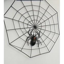 Паутина с пауком ( пластик)
