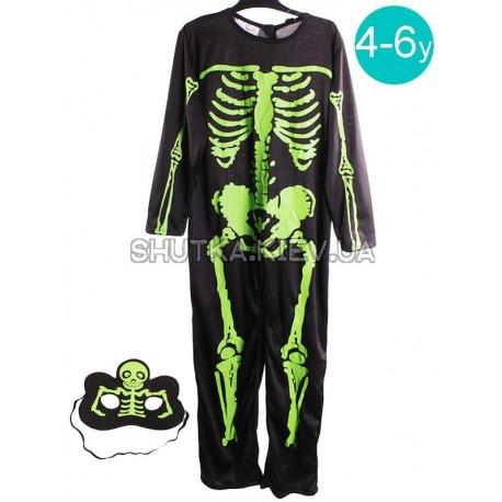 Костюм Скелета зеленый (детский)