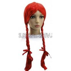 Парик 2 косы (красный)