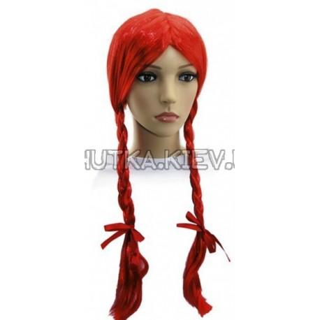 Парик 2 косы (красный) фото 1 — Shutka