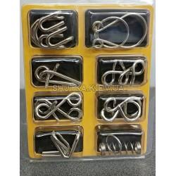 Набор металлических головоломо( 8 )