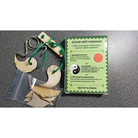 Зеленый набор головоломок фото 1 — Shutka
