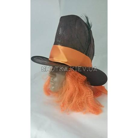 Шляпа безумного шляпника с париком фото 1 — Shutka