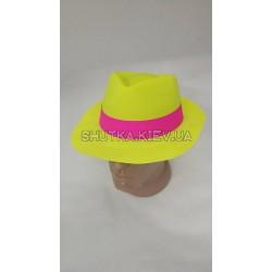 Шляпа для взрослого, пластик с лентой