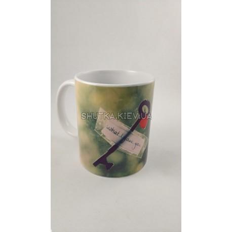 Чашка ключ к сердцу фото 1 — Shutka