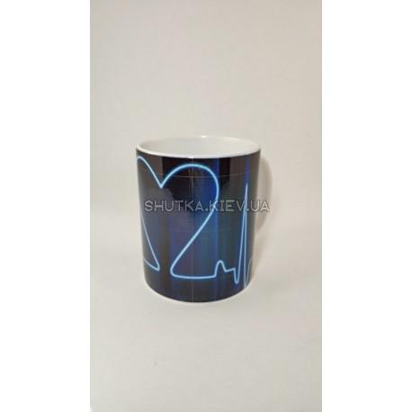 Чашка Кардиограмма фото 1 — Shutka