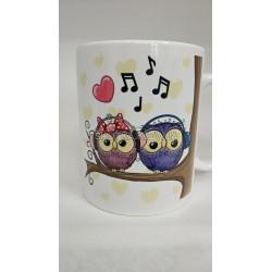 Чашка влюбленные совы