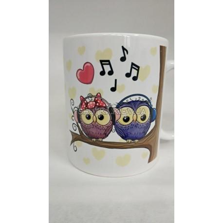 Чашка влюбленные совы фото 1 — Shutka