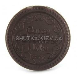 Шоколадное печенье-зеркальце