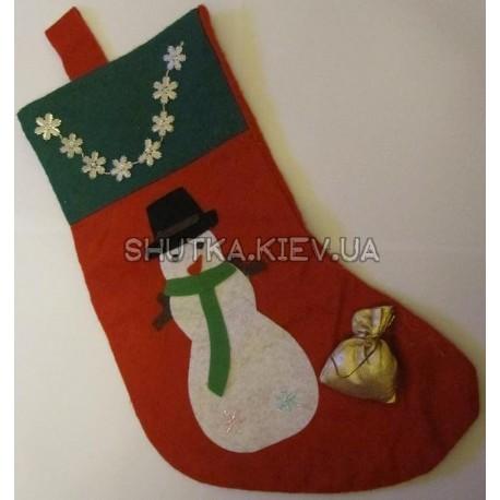 """Рождественский носок """"снеговик"""""""