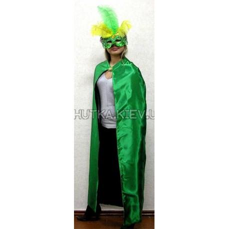 Плащ зеленый с брошью, 135 см