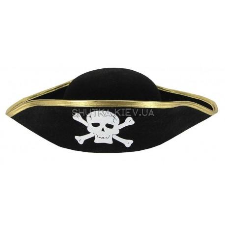 Шляпа Пиратская треуголка детская фото 1 — Shutka